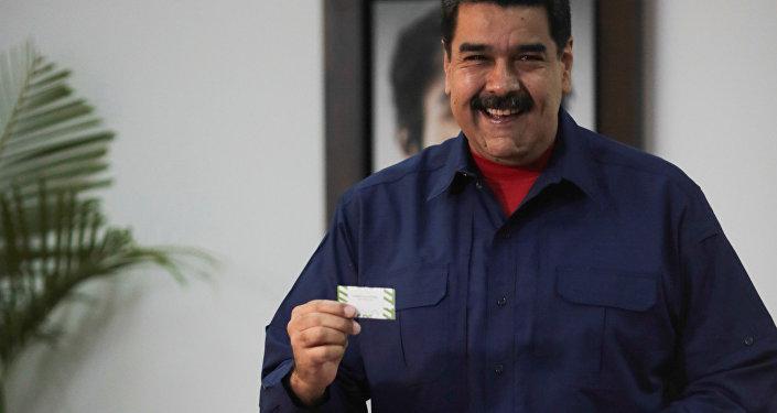 Nicolás Maduro, presidente de Venezuela, durante las elecciones municipales en Venezuela