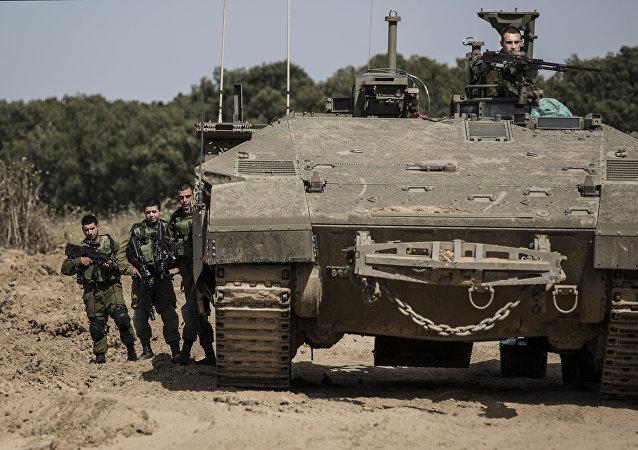 Ejército israelí en la Franja de Gaza (archivo)