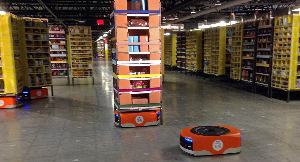 Centro de distribución de Amazon (archivo)