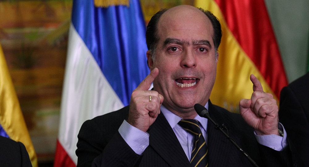 Julio Borges, el presidente de la Asamblea Nacional de Venezuela
