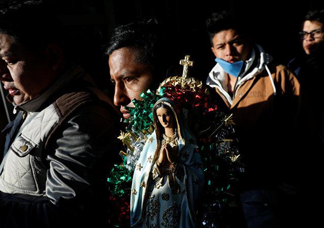 Los peregrinos católicos en México