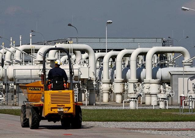 La estación de gas de Baumgarten en la localidad austriaca de Weiden an der March