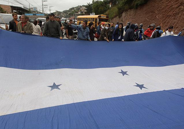 Movilización de oposición en Honduras (Archivo)