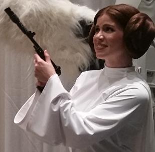 La princesa Leia Organa (un cosplay)