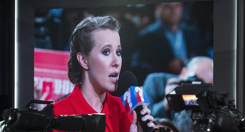 La aspirante a la Presidencia de Rusia y activista Ksenia Sobchak