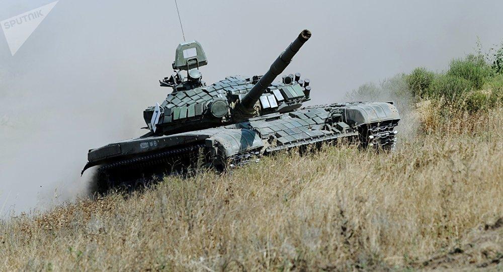 El tanque ruso T-72 B1 (archivo)