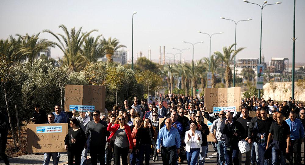 Amplio seguimiento de una huelga general en Israel