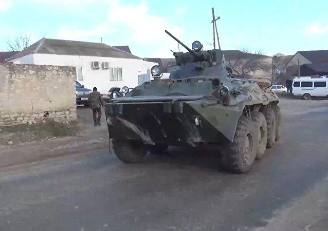 Las fuerzas del orden combaten contra los terroristas en Daguestán