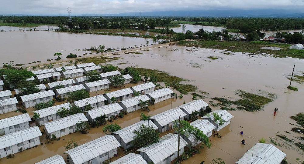 Inundación en Filipinas causada por la ormenta Urduja