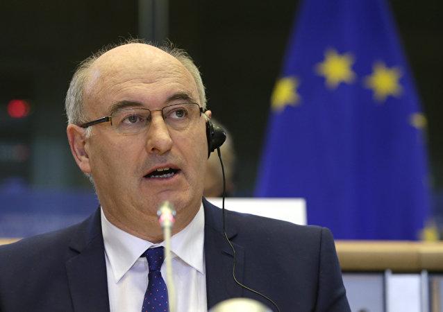 Phil Hogan, el eurocomisario de Agricultura y Desarrollo Rural