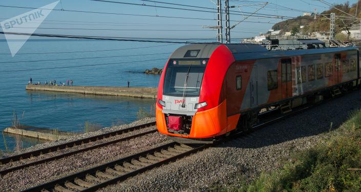 El tren de la empresa ferroviaria rusa (imagen referencial)