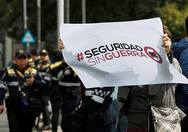Protestas contra la ley de Seguridad Interior en México (imagen referencial)