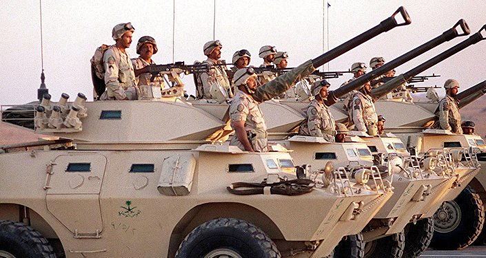 Vehículos blindados de Arabia Saudí (archivo)