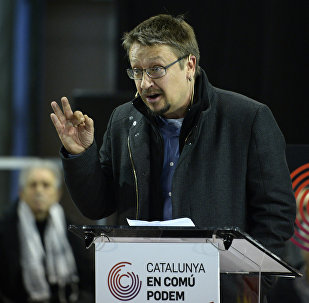 Xavier Domènech, el candidato de Catalunya En Comú Podem, la coalición catalana de Podemos