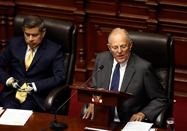 Pedro Pablo Kuczynski, el presidente de Perú en el Congreso
