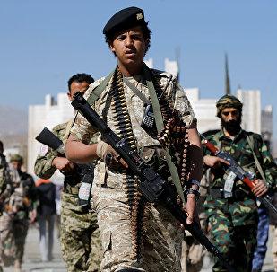 Los rebeldes hutíes en Yemen