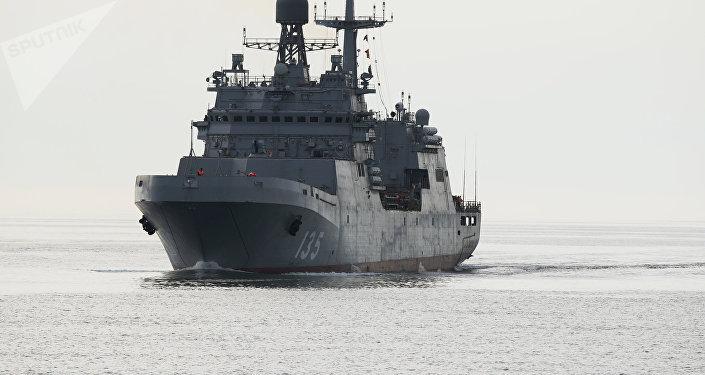 El novedoso buque de guerra Iván Gren