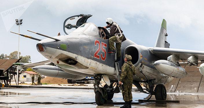 Aviación rusa en la base de Hmeymim en Siria (archivo)