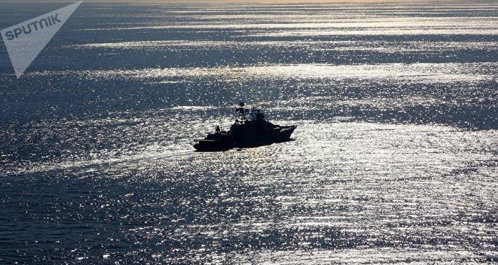 Buque ruso Severomorsk en el mar Mediterráneo  (archivo)