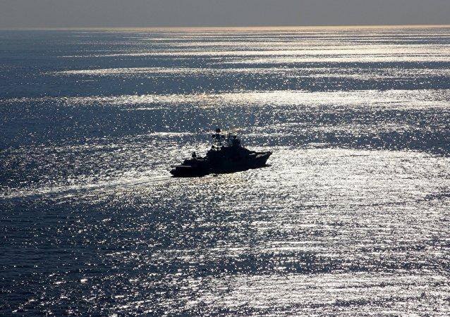 Buque ruso Severomorsk en el mar Mediterráneo