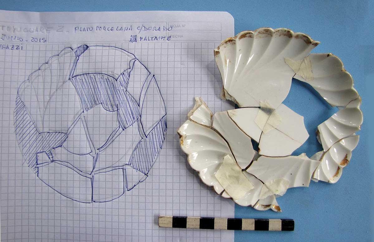 Porcelana alemana encontrada en Teyú Cuaré, el supuesto refugio nazi en Misiones, Argentina