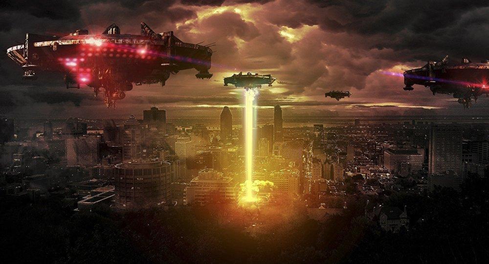 Invasión extraterrestre (ilustración)