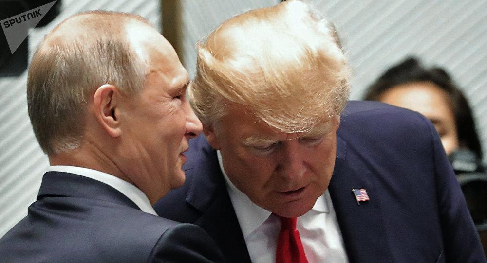 Vladimir Putin, presidente de Rusia y Donald Trump, presidente de EEUU