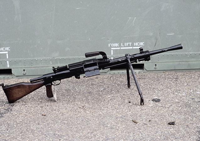Ametralladora soviética de 7,62 mm RP-46 (archivo)