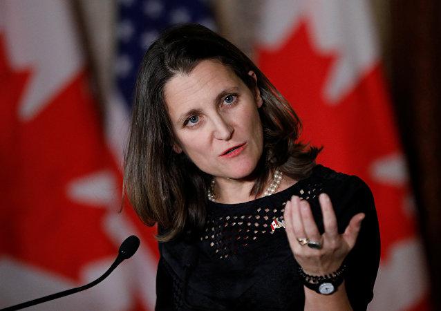 Chrystia Freeland, a ministra de Exteriores de Canadá