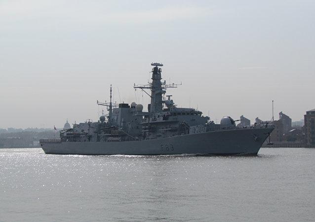 La fragata británica St Albans