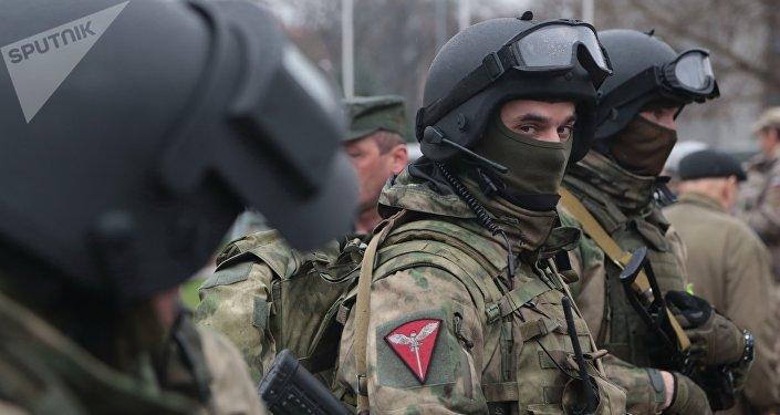 Soldados de la Guardia Nacional de Rusia (archivo)