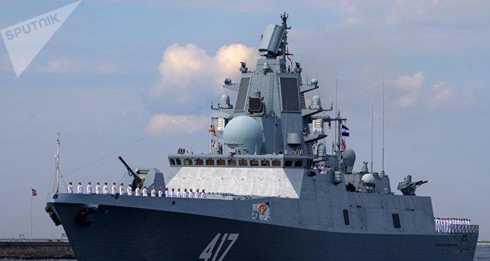 La fragata rusa Almirante Gorshkov