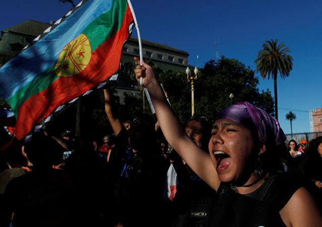 Protestas de mapuche en Argentina