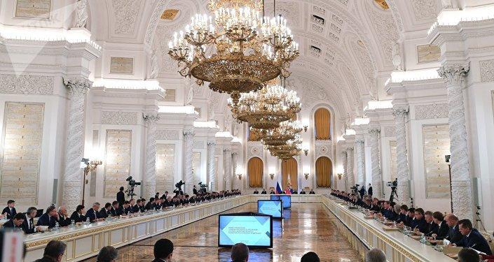La reunión del Consejo de Estado para las inversiones en las regiones, Moscú, Rusia