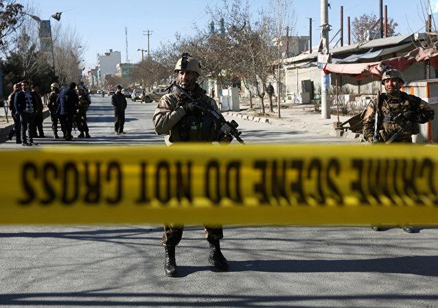 Lugar de la explosión en Kabul (archivo)
