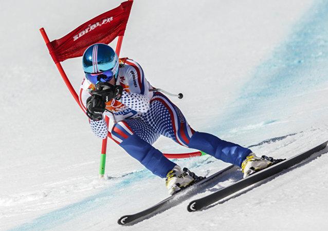 Esquiador ruso en los JJOO 2014 en Sochi