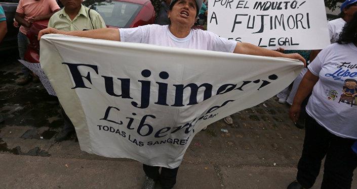 Partidarios de la liberación e Alberto Fujimori (archivo)