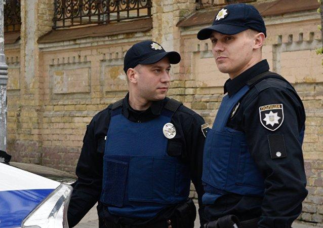 Oficiales de la Policía en Kiev