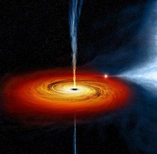 Agujero negro Cygnus X-1 (ilustración)