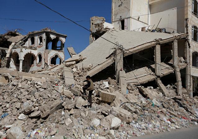 El edificio destruido en Yemen (archivo)