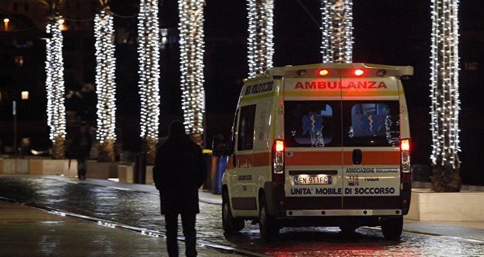 Una ambulancia italiana (archivo)