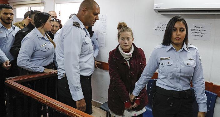 La joven palestina Ahed Tamimi
