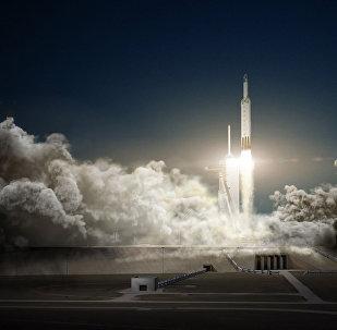 Falcon Heavy, el cohete de SpaceX (archivo)