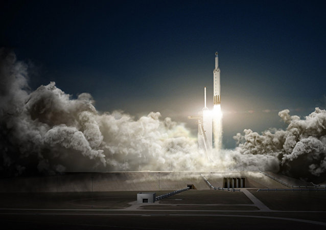 Falcon Heavy, el cohete de SpaceX (archivo)