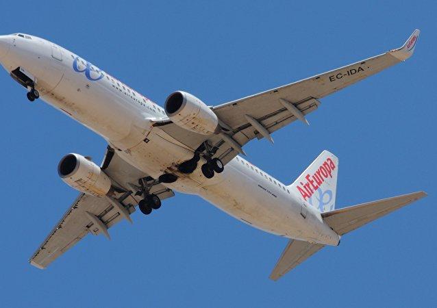 Un avión de Air Europa (imagen referencial)