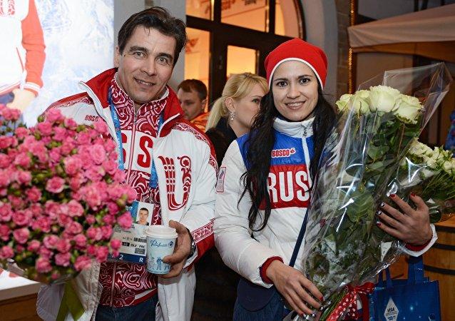 Albert Demchenko y Tatiana Ivanova, deportistas rusos