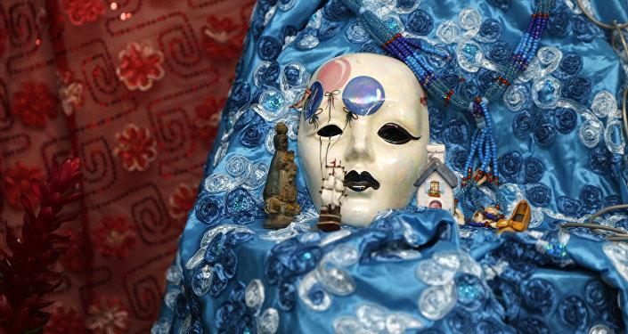 Una máscara de la divinidad Yemayá