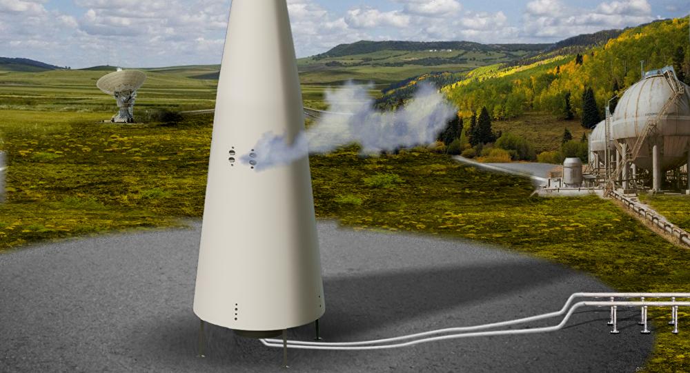 El cohete portador reutilizable Korona en la plataforma de despegue (ilustración)