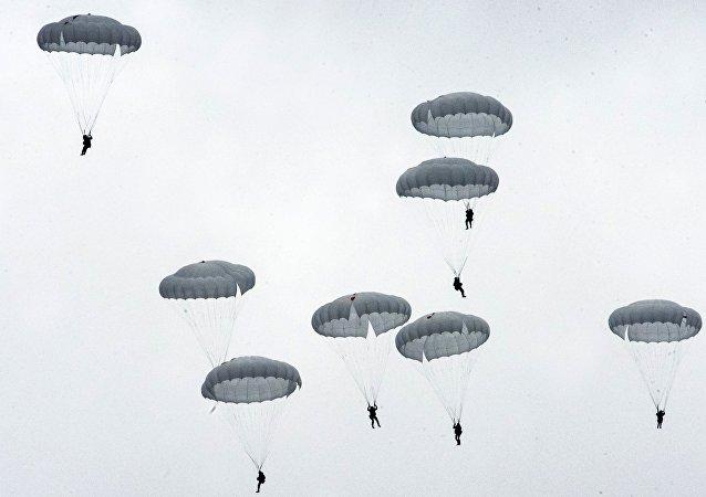 Un entrenamiento de las Fuerzas Aerotransportadas de Rusia