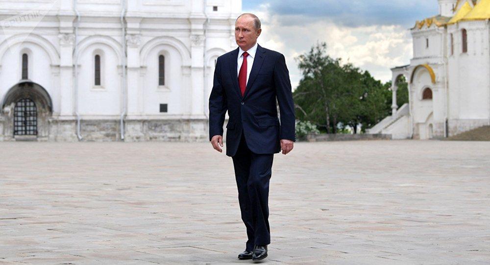 Vladímir Putin, presidente de Rusia, en el Kremlin